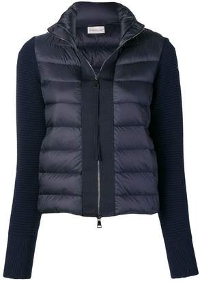 Moncler knit-panel padded jacket