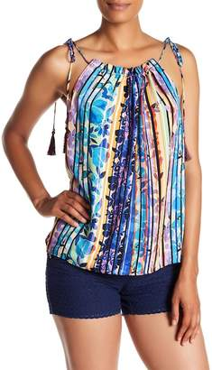 Laundry by Shelli Segal Tie Shoulder Woven Tank