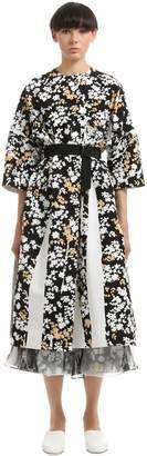Jil Sander Floral Printed Cotton Canvas Coat