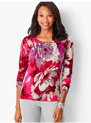 Talbots Perfect Merino Sweater - Floral Print