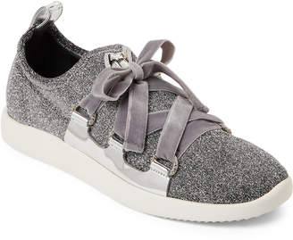 Giuseppe Zanotti Silver Natalie Donna Lace-Up Sneakers