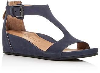 Kenneth Cole Gentle Souls Women's Gisele Nubuck Leather Platform Wedge Sandals