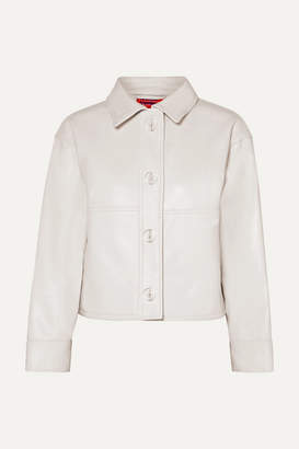 SOLACE London Lowell Leather Jacket - Off-white