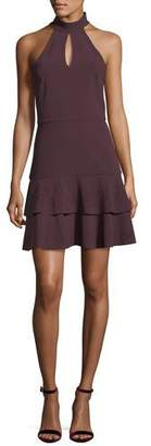 Parker Luana Halter-Neck Sleeveless Mini Dress