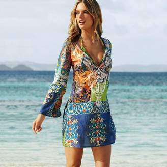 8a168348d4 Beauty Music New Women Chiffon Bathing Suit Sexy Bikini Swimwear Cover Up  Beach Dress (,