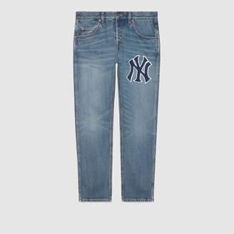 Gucci (グッチ) - ニューヨーク ヤンキースTM パッチ デニムパンツ