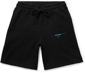 Off-White Logo-Print Fleece-Back Cotton-Jersey Shorts