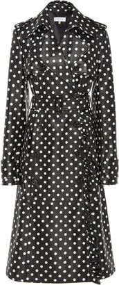 Michael Kors Polka-Dot Ruffled Leather Trench Coat