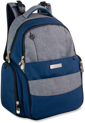 Fisher-Price Skye Heather Denim Backpack Diaper Bag