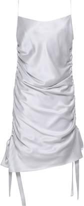 Zimmermann Ruched Silk-satin Mini Dress