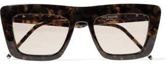 Thom Browne D-frame Tortoiseshell Acetate Sunglasses