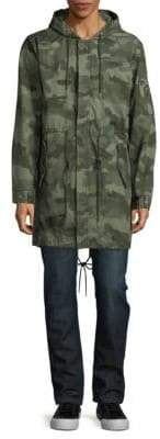 Standard Issue NYC Camo-Print Cotton Military Jacket