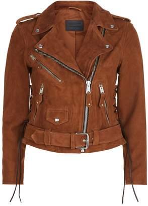 AllSaints Sarana Suede Biker Jacket