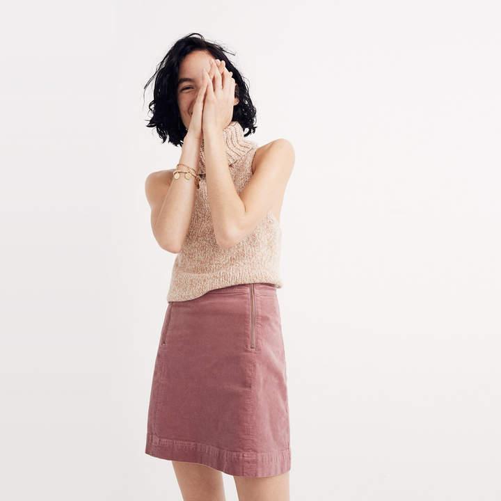 Velveteen Uptown Zip Skirt