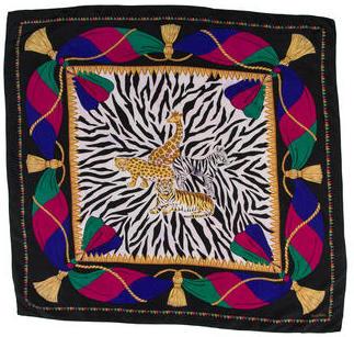Diane von Furstenberg Silk Animal Print Scarf $65 thestylecure.com