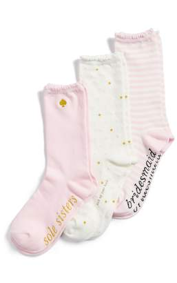 Kate Spade Bridesmaid 3-Pack Crew Socks