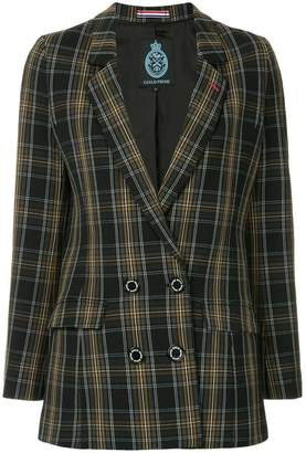 GUILD PRIME double breasted check blazer