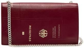 Vetements Passport-print leather bag
