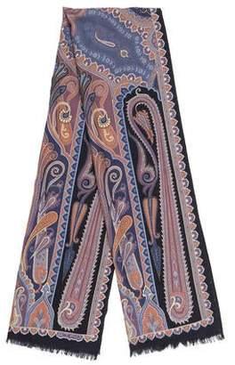 Etro Wool & Silk Printed Scarf