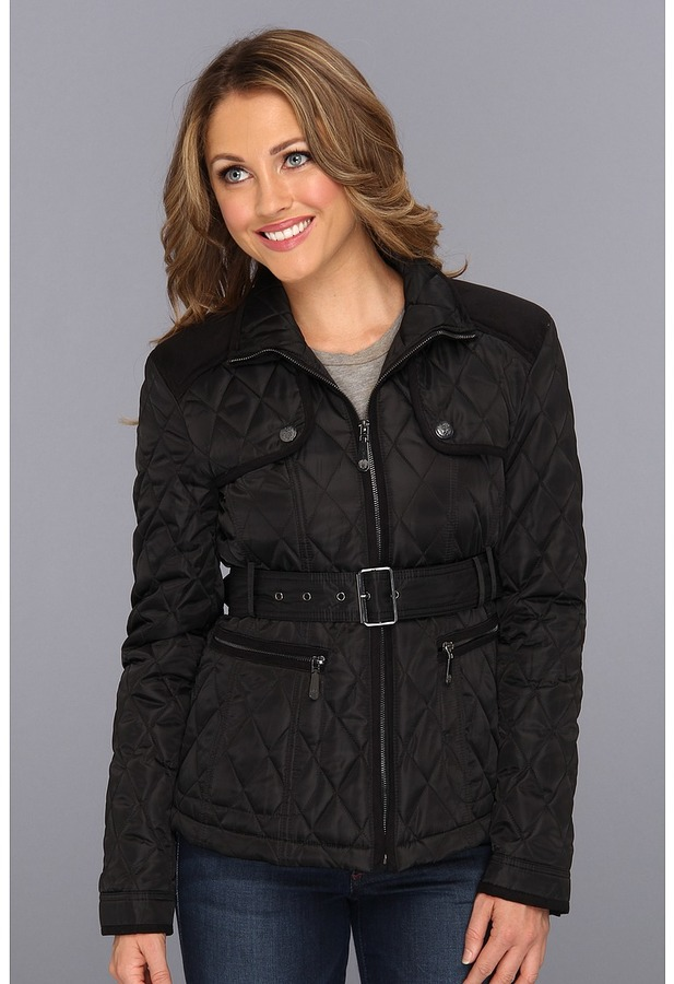Vince Camuto Quilted Jacket E8021 (Black/Black) - Apparel