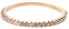 Sethi Couture Thin Rose Gold Band with Pink Diamonds