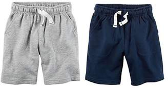 Carter's Toddler Boys 2 Pack Pull-On French Terry Soft Shorts