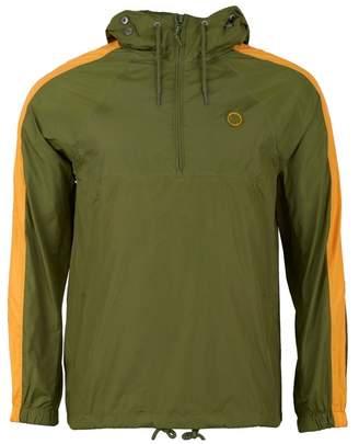 Pretty Green Overhead Hooded Jacket Colour: KHAKI, Size: SMALL
