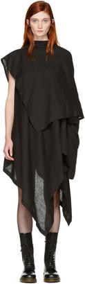 Yohji Yamamoto Black Drape Dress $1,870 thestylecure.com