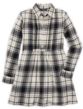 Ralph Lauren Childrenswear Girl's Plaid Cotton Twill Shirtdress