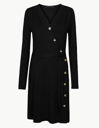 M&S Collection Jersey Long Sleeve Wrap Dress