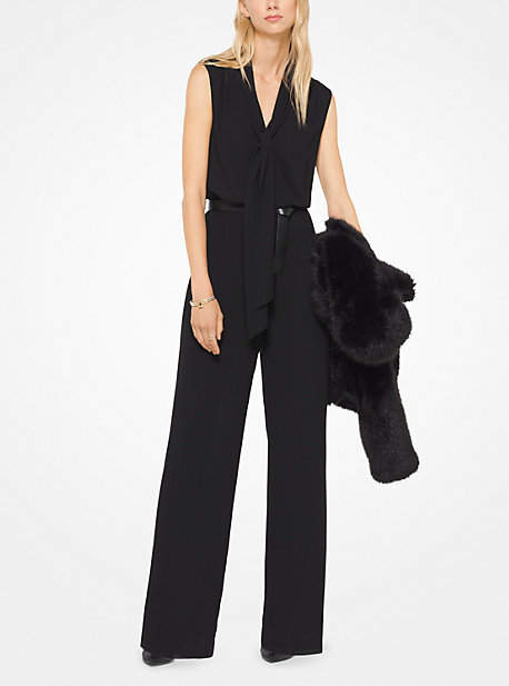 Michael Kors Tie-Neck Jumpsuit