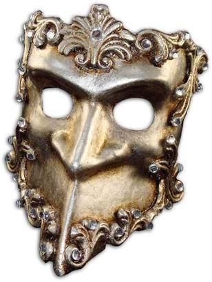 Swarovski Magic of Venezia Luxury Venetian Half Face Mask Bauta Baroque with Crystals for Men