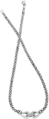 Lagos 'Derby' Diamond Buckle Rope Necklace