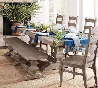 Pottery Barn Banks Extending Table & Bench Dining Set, Gray Wash