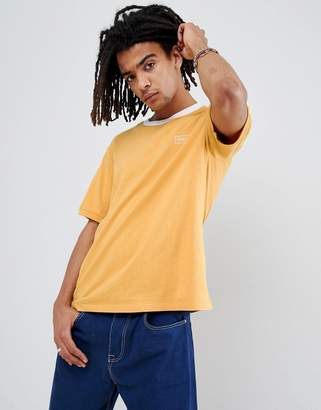 Obey Borstal T-Shirt With Taping In Yellow