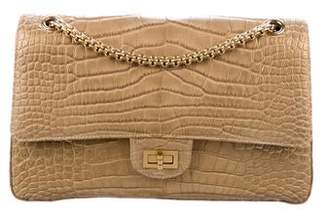 Chanel Metallic Alligator Reissue Double Flap Bag