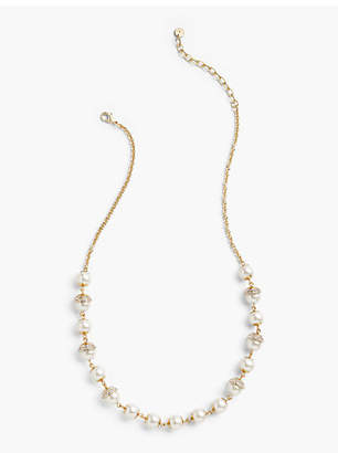 Talbots Pearl Droplet Long Necklace