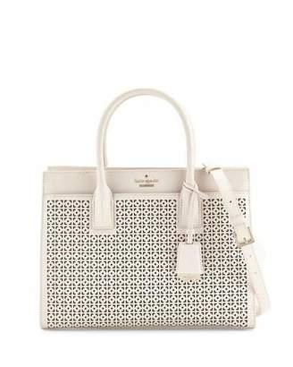 Kate Spade New York Cameron Street Candace Laser-Cut Satchel Bag, Crisp Linen $398 thestylecure.com