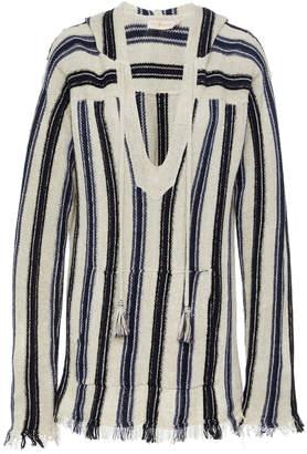 Tory Burch Striped Baja Pullover