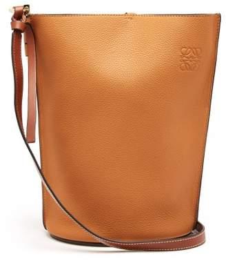 Loewe - Gate Grained Leather Bucket Bag - Womens - Tan