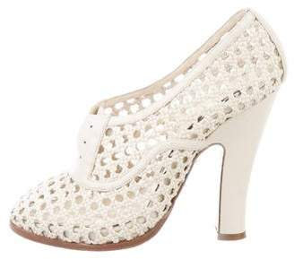 Rochas Woven Leather Pumps