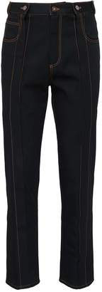 Delada Contrast topstitching unisex jeans