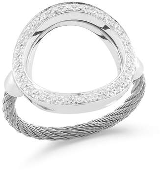 Alor Open Diamond Pavé Circle Ring, Size 6.5