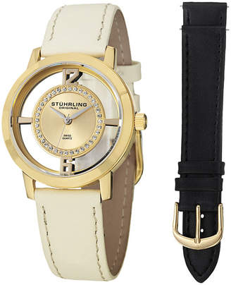 Stuhrling Original Womens White Strap Watch-Sp14653