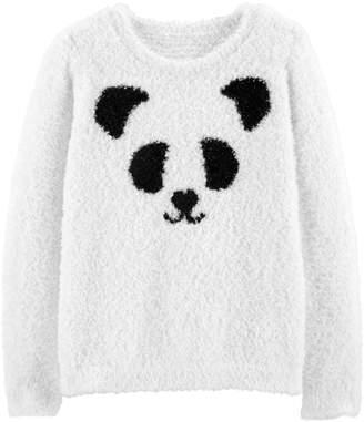 Carter's Girls 4-12 Panda Fuzzy Sweater