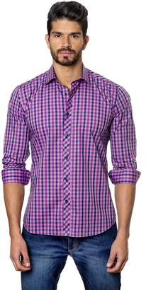 Jared Lang MenÕs Fitted Shirt Purple Plaid