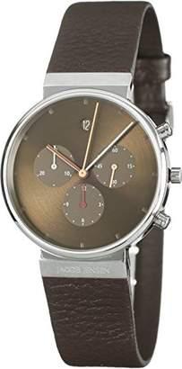 eaca4e8794a8 Jacob Jensen Men s Wrist Watch with Analogue Display Quartz Brown Leather  Item No.