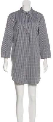 Michael Kors Gingham Print Mini Shirtdress