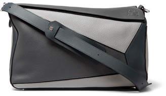 Loewe Puzzle Xl Full-Grain Leather Messenger Bag