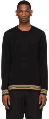 Burberry Black Merino Icon Stripe Sweater